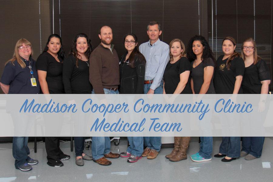 Madison Cooper Community Clinic Medical staff