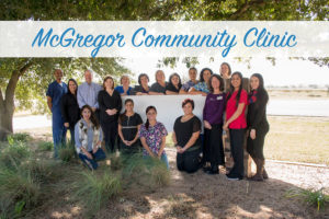 McGregor Community Clinic staff