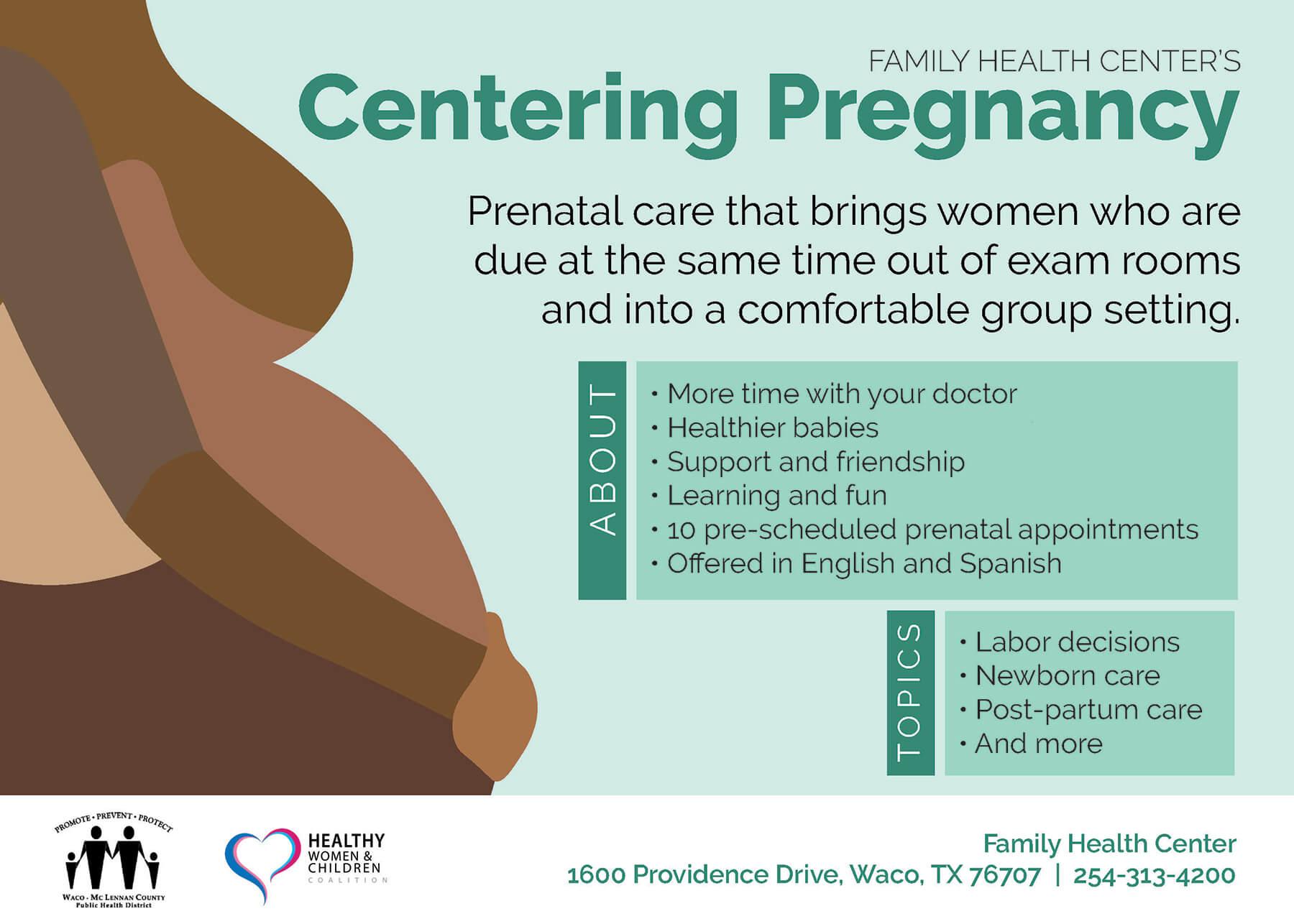 Centering Pregnancy English Brochure